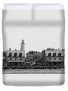 Sandy Hook New Jersey Lighthouse Duvet Cover