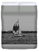 Sandy Hook Sailing II Duvet Cover