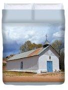 Sangre De Cristo Chapel In Cuartelez In New Mexico Duvet Cover