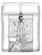 Sanibel Island Light Duvet Cover