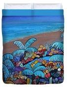 Santa Barbara Beach Duvet Cover by Barbara St Jean