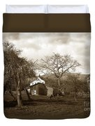 Santa Barbara Mission California Circa 1890 Duvet Cover