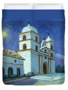 Santa Barbara Mission Moonlight Duvet Cover