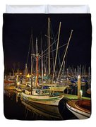 Santa Barbata Harbor Color Duvet Cover