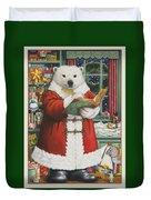 Santa Bear Duvet Cover