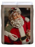 Santa Claus - Antique Ornament - 02 Duvet Cover