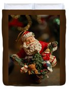 Santa Claus - Antique Ornament - 04 Duvet Cover