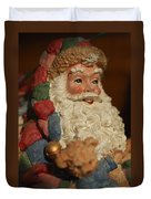 Santa Claus - Antique Ornament - 09 Duvet Cover by Jill Reger