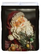 Santa Claus - Antique Ornament - 18 Duvet Cover by Jill Reger