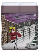 Santa Claus Is Watching Duvet Cover