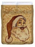 Santa Claus Joyful Face Duvet Cover