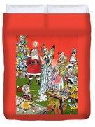 Santa Claus Toy Factory Duvet Cover by Jesus Blasco