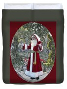 Santa Claus Walt Disney World Oval Duvet Cover