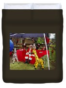Santa Clausewith The Animals Duvet Cover