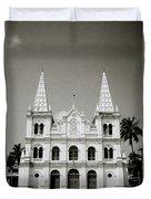 Santa Cruz Basilica In Cochin Duvet Cover