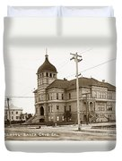 Santa Cruz High School On Walnut Street. Circa 1910 Photo By Besaw Duvet Cover