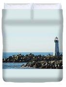 Santa Cruz Lighthouse Wide Duvet Cover
