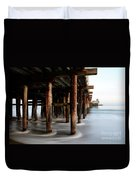 Santa Cruz Pier California Duvet Cover