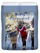 Santa Dog-2 Duvet Cover