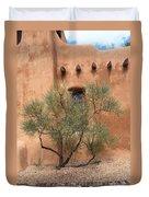Santa Fe - Adobe Building And Tree Duvet Cover