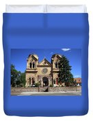 Santa Fe - Basilica Of St. Francis Of Assisi Duvet Cover