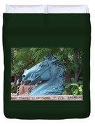 Santa Fe Big Blue Horse Duvet Cover