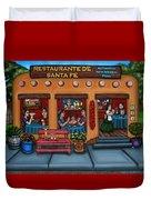 Santa Fe Restaurant Duvet Cover by Victoria De Almeida