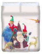 Santa Gets Ready Duvet Cover