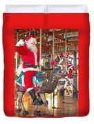 Santa Go Round Duvet Cover