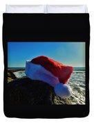 Santa Hat And Ocean 10 12/19 Duvet Cover