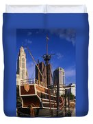 Santa Maria Replica Photo Duvet Cover