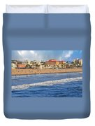 Santa Monica Beach View  Duvet Cover