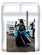 Santa Monica Belly Dancer Duvet Cover