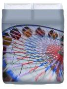 Santa Monica Pier Ferris Wheel At Dusk Duvet Cover