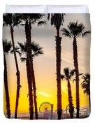 Santa Monica Palms Duvet Cover