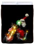 Santa Motoring Duvet Cover
