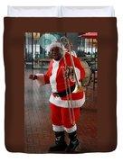 Santa New Orleans Style Duvet Cover