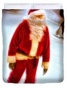 Santa On Ice Duvet Cover