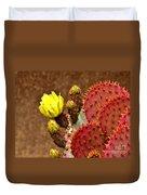 Santa Rita Cactus Duvet Cover