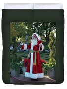 Santa Walt Disney World Duvet Cover