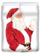 Santa Waving Duvet Cover