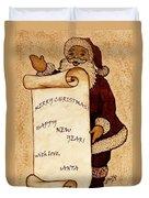 Santa Wishes Digital Art Duvet Cover