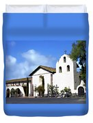 Santa Ynez Mission Solvang California Duvet Cover