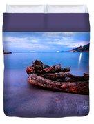 Sant'andrea At Night - Elba Island. Duvet Cover