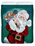 Santa's Coming To Town Duvet Cover