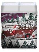 Santa's Truckload Duvet Cover