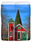 Santas Workshop Duvet Cover