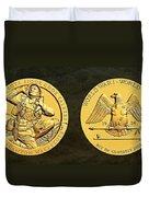 Santee Sioux Tribe Code Talkers Bronze Medal Art Duvet Cover