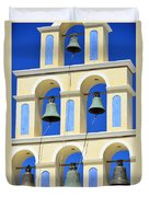 Santorini Bell Tower 2 Duvet Cover