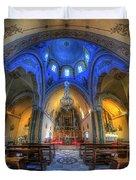 Santorini Cathedral  Duvet Cover